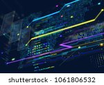 abstract techno background. | Shutterstock . vector #1061806532