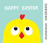 happy easter sign symbol.... | Shutterstock . vector #1061818352