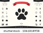 paw icon symbol | Shutterstock .eps vector #1061818958