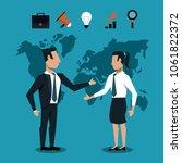 business peoplee handshake over ... | Shutterstock .eps vector #1061822372