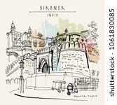 bikaner  rajasthan  india.... | Shutterstock .eps vector #1061830085