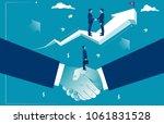 handshake and good deal.... | Shutterstock . vector #1061831528