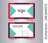 geometric blue business card... | Shutterstock .eps vector #1061840072