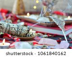 smudge sticks with crystals... | Shutterstock . vector #1061840162