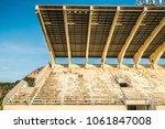 field of stadium in the rural... | Shutterstock . vector #1061847008