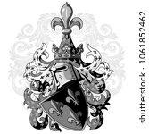 knightly coat of arms. heraldic ... | Shutterstock .eps vector #1061852462