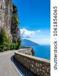 amalfi coast  mediterranean sea ... | Shutterstock . vector #1061856065