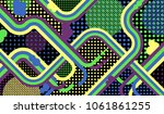 memphis pattern. abstract... | Shutterstock .eps vector #1061861255