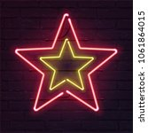double star neon sign. vector... | Shutterstock .eps vector #1061864015