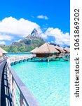 bora bora island  french... | Shutterstock . vector #1061869202