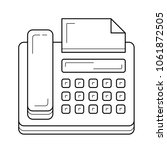 fax machine vector line icon... | Shutterstock .eps vector #1061872505