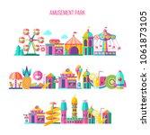 amusement park  theme park ... | Shutterstock .eps vector #1061873105