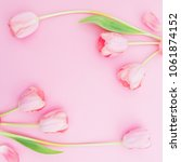 floral frame background with... | Shutterstock . vector #1061874152