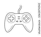 gamepad vector line icon... | Shutterstock .eps vector #1061874542