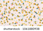 simple cute pattern in small... | Shutterstock .eps vector #1061880938