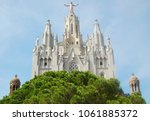 The Expiatory Church of the Sacred Heart of Jesus (Temple Expiatori del Sagrat Cor) on the summit of Mount Tibidabo - Barcelona, Catalonia, Spain