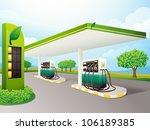 illustration of a petrol pump... | Shutterstock . vector #106189385