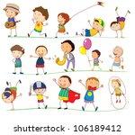 illustration of a boys doing... | Shutterstock . vector #106189412
