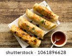 egg kathi roll is a delicious... | Shutterstock . vector #1061896628