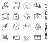 flat vector icon set   gift... | Shutterstock .eps vector #1061902115