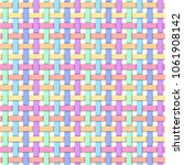 weave rainbow pastel color... | Shutterstock .eps vector #1061908142