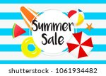 summer sale banner vector... | Shutterstock .eps vector #1061934482
