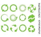 green round recycle vector... | Shutterstock .eps vector #1061936396