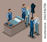 isometric tailor  the creation... | Shutterstock .eps vector #1061936708