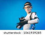 motion caption virtual reality | Shutterstock . vector #1061939285