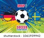 soccer world championship match ... | Shutterstock .eps vector #1061939942