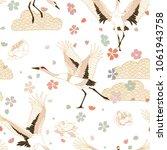 japanese pattern. seamless... | Shutterstock .eps vector #1061943758