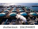 aerial view of liquefied... | Shutterstock . vector #1061944805