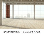 unfurnished empty wooden... | Shutterstock . vector #1061957735