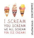 cartoon ice cream illustration. ...