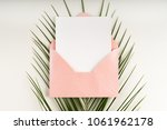 minimal composition with a pink ... | Shutterstock . vector #1061962178