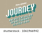 condensed retro display font... | Shutterstock .eps vector #1061966942