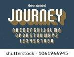 condensed retro display font...   Shutterstock .eps vector #1061966945