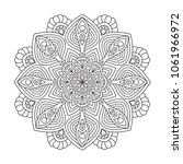 black and white mandala vector... | Shutterstock .eps vector #1061966972
