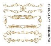vector decorative elements set. ... | Shutterstock .eps vector #1061978648