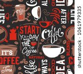 coffee seamless pattern.coffee... | Shutterstock .eps vector #1061979335