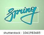 graffiti style spring text.... | Shutterstock .eps vector #1061983685