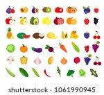set of fruits and vegetables... | Shutterstock .eps vector #1061990945