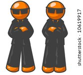 two orange men wearing suits... | Shutterstock .eps vector #10619917