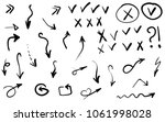 doodle hand drawn vector arrows ... | Shutterstock .eps vector #1061998028
