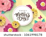 mother's day greeting card... | Shutterstock .eps vector #1061998178