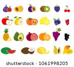 set of fruit halves.vector... | Shutterstock .eps vector #1061998205
