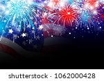 usa 4 july independence day... | Shutterstock . vector #1062000428