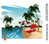 beautiful island cartoon | Shutterstock .eps vector #1062003938