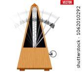 classic metronome with pendulum ... | Shutterstock .eps vector #1062010292