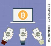 hand  on money exchange for... | Shutterstock .eps vector #1062018176